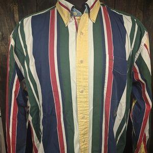 Vintage Tommy Hilfiger Multi-Stripe Shirt Wu-Tang